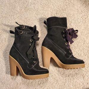 NWOT Steve Madden leather Boot  heel booties
